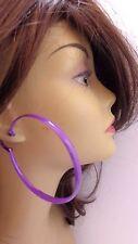 ASSORTED COLOR HOOP EARRINGS LARGE HOOPS 3 INCH HOOP EARRINGS .25 inch thick