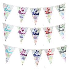 Islamic Bunting Banners - Eid Hajj Umrah Shaadi Gifts Cards Mubarak Holiday