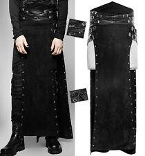 Jupe surjupe longue fendue taille haute gothique punk sangle daim Punkrave homm