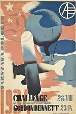 REPRO DECO AFFICHE AVION GORDON BENNETT 1934 POLOGNE  SUR PAPIER 190 OU 310 GRS