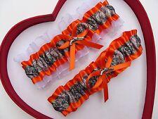** NEW Mossy Oak Camouflage Camo Orange White Wedding Garter Prom Gun Hunting