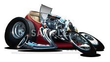 1927 T-Bucket Roadster Cartoon WALL DECAL MURAL PRINT 6865  Auto Vintage Art