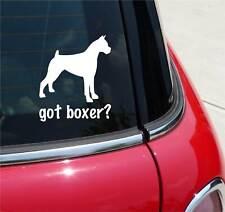 GOT BOXER? BOXER DOG GRAPHIC DECAL STICKER ART CAR WALL DECOR