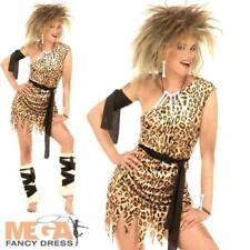FEM Ladies Fancy Dress Barbarian Fille cav Stone Age Femme Adultes Costume