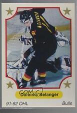 1991-92 7th Inning Sketch OHL #107 Dominic Belanger Belleville Bulls (OHL) Card