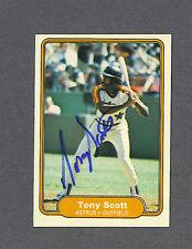Tony Scott signed Houston Astros 1982 Fleer baseball card