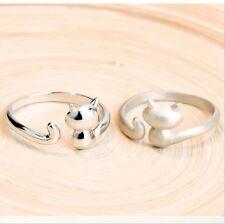 Ring Katze Kätzchen versilbert 925 Sterling Silber verstellbar one size Geschenk