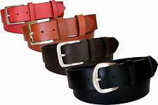 Cintura in cuoio uomo donna accorciabile 40 e 35 mm nero moro marrone rosso
