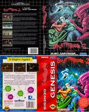 Splatterhouse 2 Sega MegaDrive Genesis Replacement Box Art Case Insert Cover
