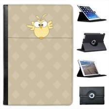 Big Eyed Yellow Owl Flapping Wings Folio Leather Case For iPad Mini & Retina
