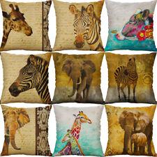 Giraffe zebra deer Animal Pillow Case Cotton Linen Cushion Cover Home Décor