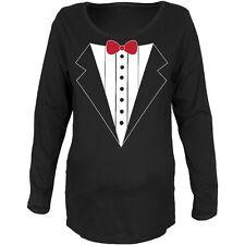 Tuxedo Costume Black Maternity Soft Long Sleeve T-Shirt