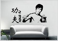 Wandtattoo wandaufkleber wandsticker photo  Porträt Bruce Lee Kongfu wph52