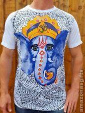 Ganesh Elephant Yoga Boho Hindu Mens Womens Unique 100% Cotton Mirror T shirt