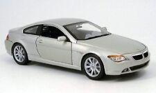 BMW 6ER COUPE SILVER 2004 MAISTO 1:18 1/18 ARGENTE NEW