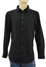 $250 DOLCE & GABBANA Black Tailored D&G Casual Dress Cotton Mens Shirt