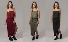 URBAN CLASSICS Abito Vestito donna a fascia Ladies Viscose Bandeau Dress TB1508