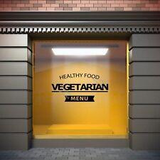Healthy Vegetarian Food  Large Shop Window / Restaurant / Pub Sticker Decoration