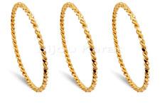 3 x Ikili Burma B Ilezik 24 quilates dorado Oro GP 24 Ayar Altin Kaplama 0,5 cm