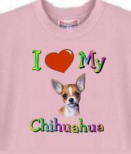 Dog T-Shirt - I Love My Chihuahua - Adopt Rescue Animal Pet Cat  Men Women # 76