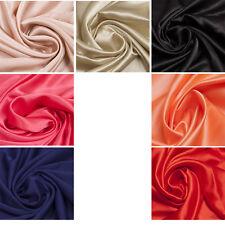 Premium 100% Silk Lining Bridal Plain Fabric Dress Upholstery Crafts Duchess