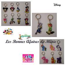 DISNEY - Nouveauté - Porte-clés Mickey, Minnie & Cie, Zootopie, My Little Pony