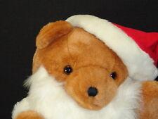 RARE KUSCHELWEICH GERMAN PLUSH ADVERTISING SANTA SUIT CHRISTMAS TEDDY BEAR TOY
