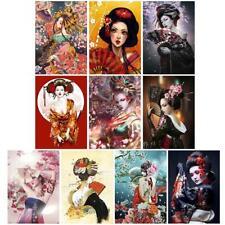 5D Full Drill Diamond Painting Geisha Cross Stitch Mosaic Craft Kits Home Decor