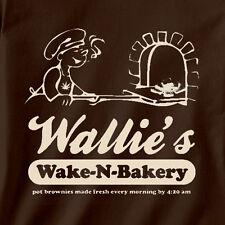 Wallie's Wake & Bake Bakery Weed Edibles Legal bud tree MJ Funny Stoner T-Shirt