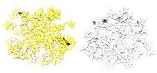 50x FARFALLE in PVC addobbi decorazioni braccialetti feste compleanno confetti