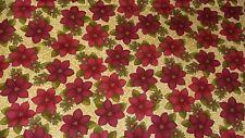 New-100% Cotton - Benartex Fabrics  Christmas Poinsettia Design