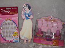 Disney Enchanted Pedicure Press On Nails Snow White NEW