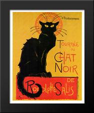 Chat Noir 15x18 Black Wood Framed Art Print by Theophile Steinlen