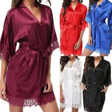 Women Satin Lace Sleepwear Babydoll Lingerie Nightwear Shorts Pjs Pyjamas Set