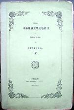 1846 EPIGRAFIA ISCRIZIONI DI LUIGI MUZZI DA PRATO - CENTURIA X^