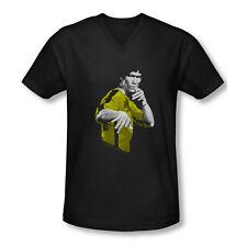 Bruce Lee Suit Of Death Adult V Neck T-Shirt Sizes- S-2X New