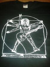 Da Vinci Vitruvian Man Rock guitarrista Camiseta Todos Los Tamaños, Varios Colores