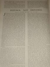 1903 ARTICLE CITIZEN SOLDIERS VOLUNTEERS CONSCRIPTION ACTING CHAPLAIN ETC