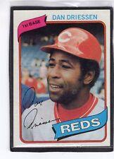 1980  DAN DRIESSEN - Topps Baseball Card # 325 - CINCINNATI REDS
