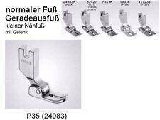 Normaler Nähfuß, Kleiner Fuß für Steppstichmaschine P35! Kennenlern Angebot  #kk