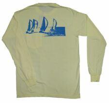 Coastal Cotton Sailboats Long Sleeve Pocket Tee