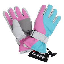 Girl Kids Winter Warm Waterproof Snow Winter Skiing Hiking Gloves Mittens