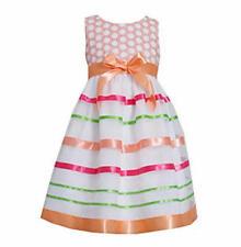 BONNIE JEAN® Little Girl's 4, 6 Orange Multi Ribbon Dress, *NWT $62