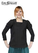 Empire Shirt, black, Medieval LARP Gothic Ancient Garment Costume Epic Armoury