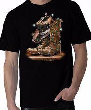 Christmas Cowboy Shirt, Cowboy Boots & Hat - X-Mas Lights Shirt, Sm - 5X