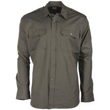 Camiseta Tropical Manga Larga Verde Oliva S s-3xl,safarihemd EEUU Camisa De
