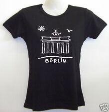 Girlie T-Shirt * Brandenburger Tor Schwarz S - XXL