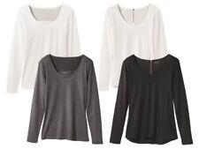 (BZ) Esmara Langarmshirt Damenshirt modern Shirt lang Top Damen Bluse Neu