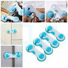 5/10X Kids Child Baby Safety Cabinet Door Fridge Drawer Cupboard Catch Lock Clip
