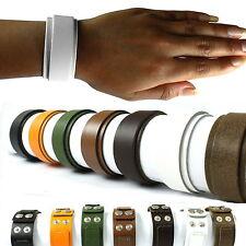 Lederarmband Damen Leder Armband breit Made in Germany schwarz orange grün weiß